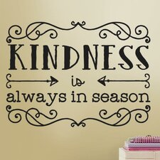 Deco Kindness Quote Wall Decal