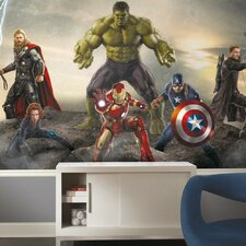 Avengers Age of Ultron Ground Attack X - Large Chair Rail Prepasted Wall Mural