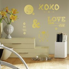 Love with Hearts and Arrows Peel and Stick Wall Decal