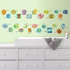 ABC Animal Peel and Stick Wall Decals