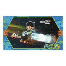 Miles From Tomorrowland Chair Rail Prepasted Wall Mural