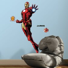 Iron Man Peel and Stick Giant Wall Decals with Glow