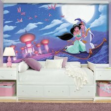 "Aladdin ""A Whole New World"" Chair Rail Prepasted Mural"
