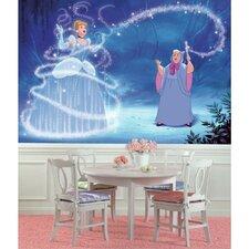 Disney Princess Cinderella Magic Chair Rail Prepasted Wall Mural