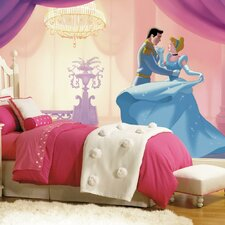 "Disney Princess Cinderella ""So This Is Love"" Chair Rail Prepasted Wall Mural"