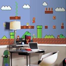 Nintendo Retro Super Mario Chair Rail Prepasted Wall Mural
