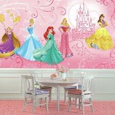 Disney Princess Enchanted Chair Rail Prepasted Wall Mural