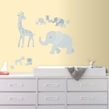 Baby Safari Animals Peel and Stick Giant Wall Decal