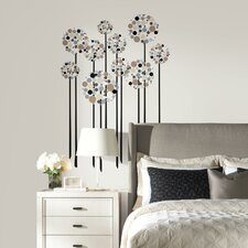 Neutral Floral Dot Peel and Stick Giant Wall Decal
