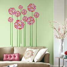 Bright Floral Dot Peel and Stick Giant Wall Decal