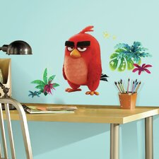 Rovio Entertainment Angry Birds the Movie Red Peel and Stick Giant Wall Decal