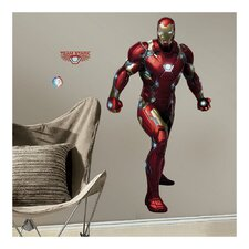 Marvel Enterprises Iron Man Civil War Peel and Stick Giant Wall Decal