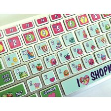 Moose Entertainment Shopkins Keyboard Peel and Stick Stickers