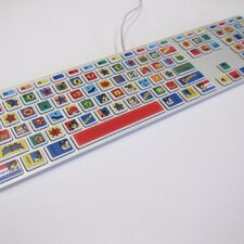 Warner Brothers DC Comics Keyboard Peel and Stick Stickers