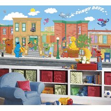 Sesame Street Wall Mural
