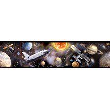 "Studio Designs Space Travel 15' x 5"" Border Wallpaper"