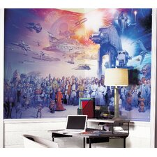 Star Wars Full Cast Wall Mural