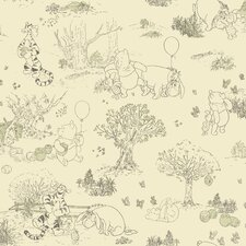 "Room Mates Deco Winnie The Pooh Toile 33' x 20.5""  Roll Wallpaper"