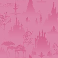 "Room Mates Deco Princess Toile 1' x 2"" Scenic Wallpaper"