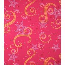 "Star Glitter 2.25' x 1.75"" Paisley Wallpaper"
