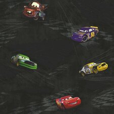 "Room Mates Deco Cars Racing 33' x 20.5"" Scenic Wallpaper"