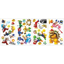Popular Characters Super Mario Bros. Wii Wall Decal