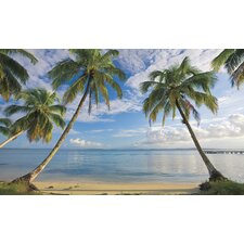Beach View Prepasted Wall Mural