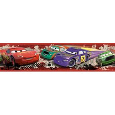 """Cars Piston Cup Racing Peel and Stick 18' x 20.5"""" Border Wallpaper"""
