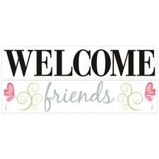 Deco Welcome Friends Wall Decal