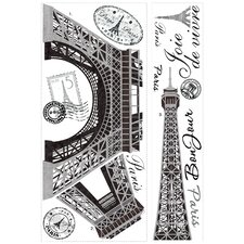 Deco 13 Piece Eiffel Tower Giant Wall Decal
