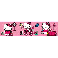 "9' x 1.5"" The World of Hello Kitty Border Wallpaper"