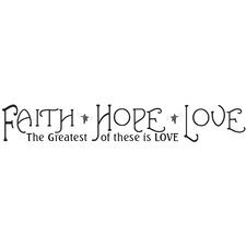 Faith, Hope and Love Wall Decal