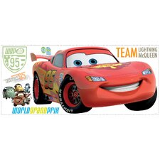 Popular Characters 106 Piece Cars 2 Lightening Giant Wall Decal