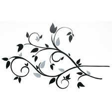 Deco Scroll Branch Foil Leaves Wall Decal