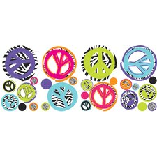 Studio Designs Zebra Peace Sign Wall Decal