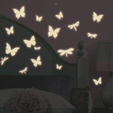 Studio Designs Butterfly and Dragonfly Glow in The Dark Wall Decal