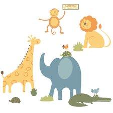 Studio Designs Sapna Zoo Animals Giant Wall Decal