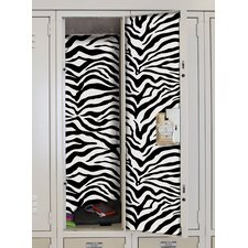 Zebra Locker Skins Wall Mural