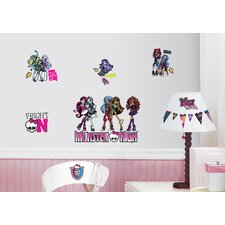 Peel and Stick 37 Piece Monster High Wall Decal