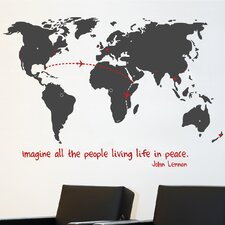 Mia & Co World Wall Decal
