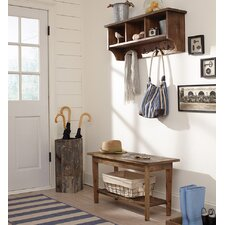 Revive Wall Mounted Coat Rack with Bench