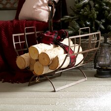 Arts and Craft Wrought Iron Log Holder
