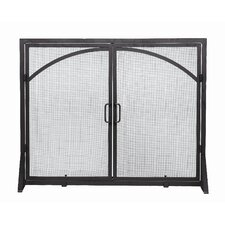 2 Panel Wrought Iron Fireplace Screen