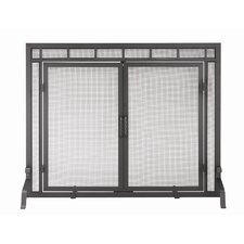 4 Panel Wrought Iron Fireplace Screen