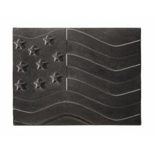 American Flag Cast Iron Fire Back
