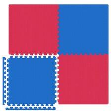 Economy SoftFloors Set in Red / Royal Blue
