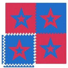 Economy SoftFloors Star Set in Red / Royal Blue