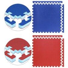 Jumbo Reversible SoftFloors Set in Red / Royal Blue