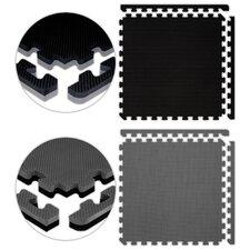 Jumbo Reversible SoftFloors Set in Black / Grey