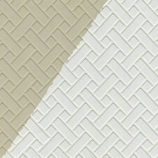 "Weave 33' x 20.5"" Prepasted Paintable Roll Wallpaper"